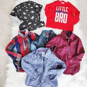 Bundle of Boys Dress Shirts and Long Sleeve Tees